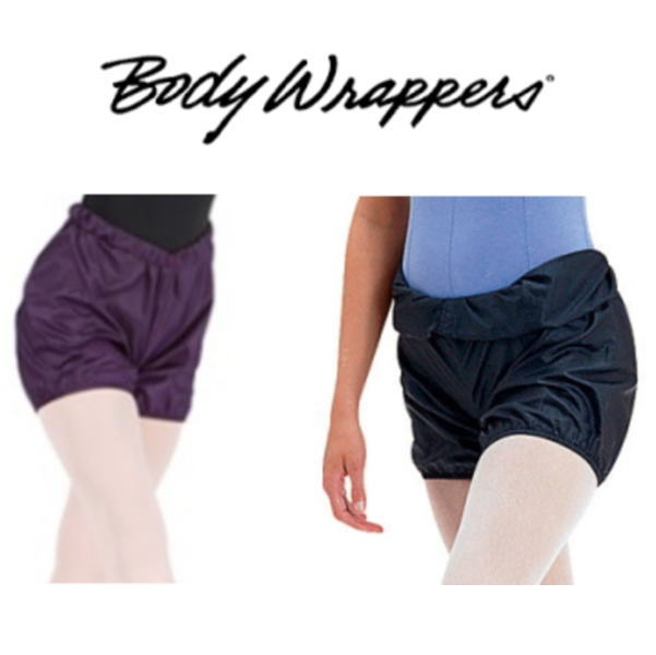 【Body Wrappers】サウナショートパンツ バレエのレッスンに!お尻が小さく見える♪ ブラック プラム