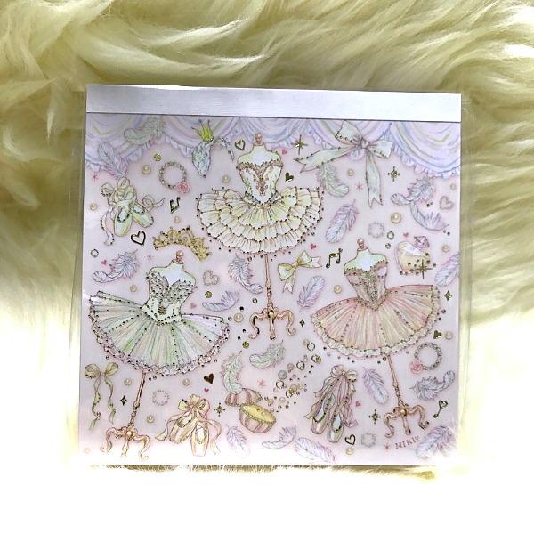 【たけいみき】バレエ・エトワール キラッキラッの可愛いメモ帳