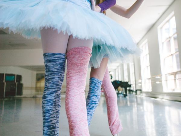 バレエ【Rubia Wear】バレエダンサーがデザインした超ロングレッグウォーマー RaspberrySherbet フルレッグ