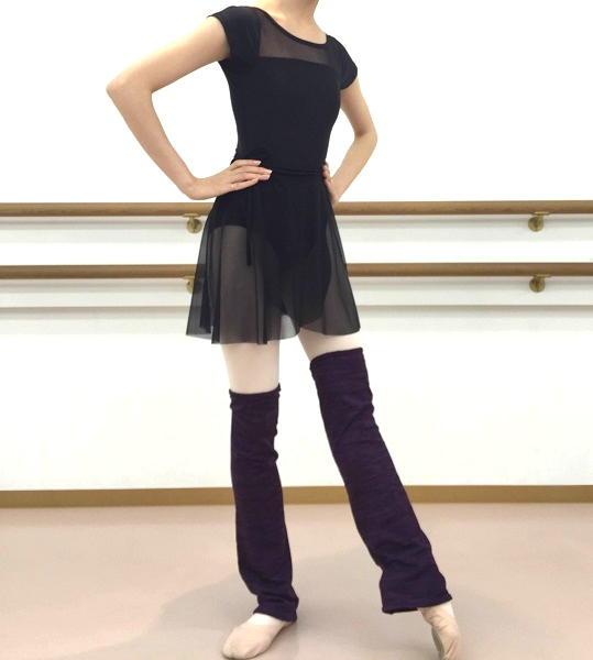 【Rubia Wear】バレエダンサーがデザインしたレッグウォーマーSoftGrape ショート丈