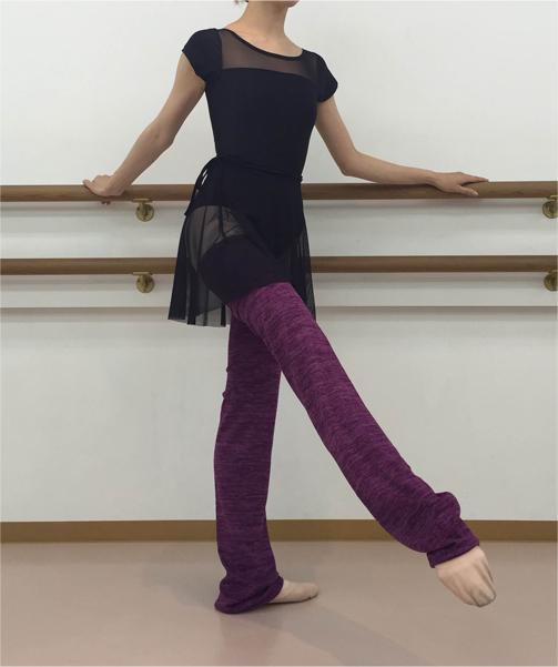 【Rubia Wear】バレエダンサーがデザインしたレッグウォーマー SoftPlum(プラム)フルレッグ