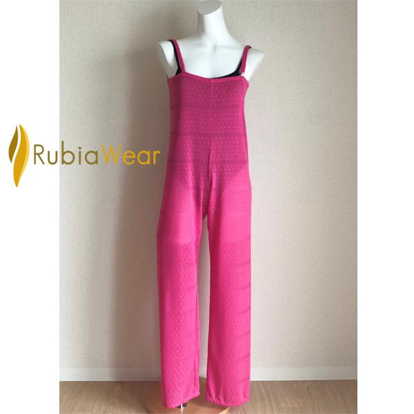 【Rubia Wear】バレエダンサーがデザインした★<br>ロングオールインワン<Jumper>(Barbie ピンク)