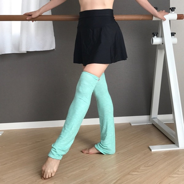 【Rubia Wear】バレエダンサーがデザインしたレッグウォーマーSeaspray(シースプレー) ショート丈