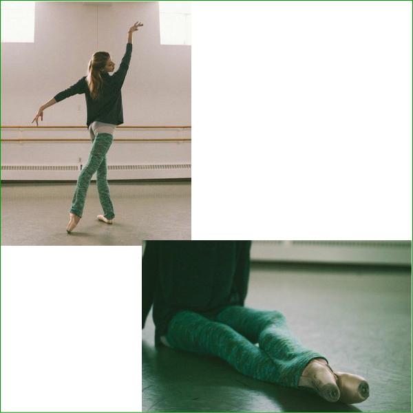 【Rubia Wear】バレエダンサーがデザイン★超ロングレッグウォーマー( SoftMoss)フルレッグ