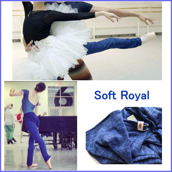 【Rubia Wear】バレエダンサーがデザインした超ロングレッグウォーマー SoftRoyal(ロイヤルブルー)フルレッグ Sサイズ