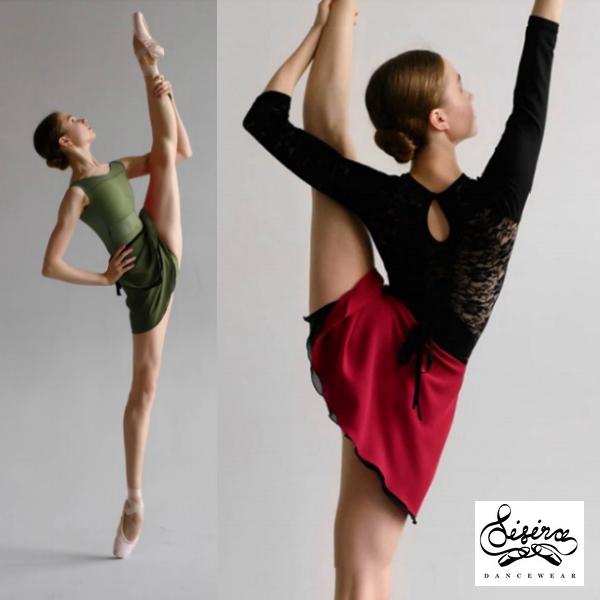 【Sisira】2枚重ね リバーシブル バレエ 巻きスカート DUO  Sisiradancewear ★シシラ