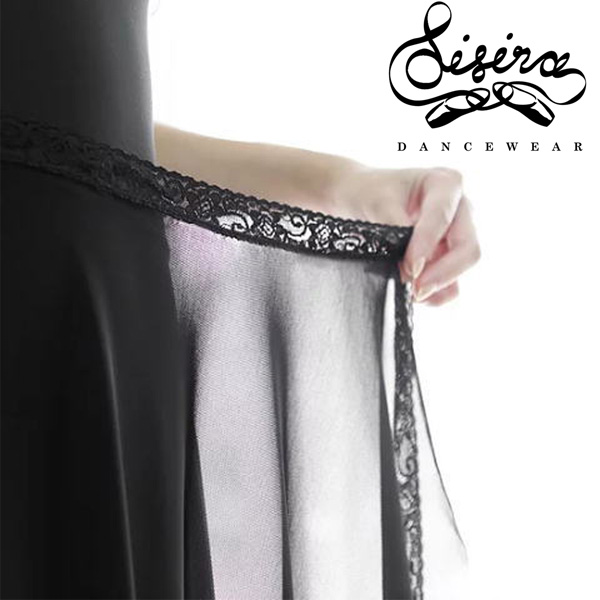 【Sisira】レースリボン メッシュ バレエ 巻きスカート 大人 シシラ