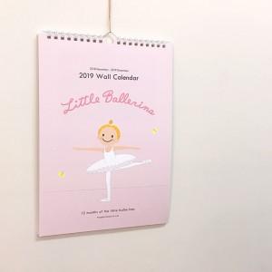 【壁掛け】2019年★リトルバレリーナ★ウォール カレンダー
