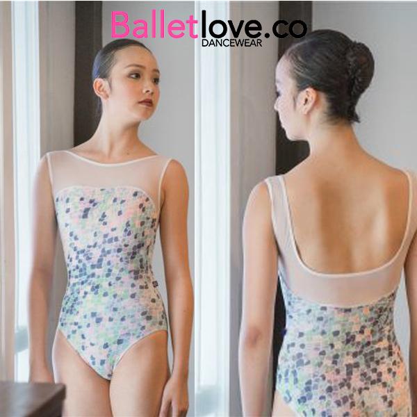 【 Balletlove / バレエラブ 】 デコルテメッシュ タンク型レオタード 美しい!まるでマーメイドの様なデザイン