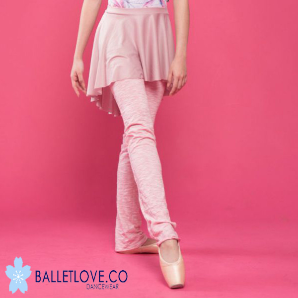 バレエ レッグウォーマー Balletlove ロング丈 (strawberry)カットソー素材のレッグウォーマー バレエラブ