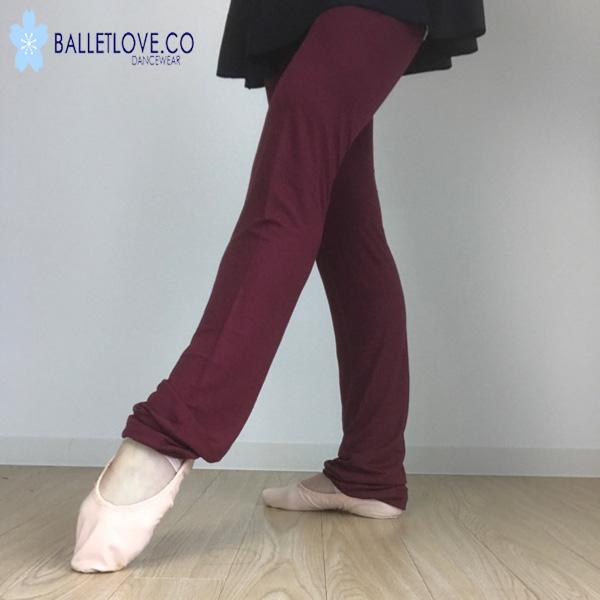 バレエ レッグウォーマー Balletlove ロング丈 (Wine)カットソー素材のレッグウォーマー バレエラブ