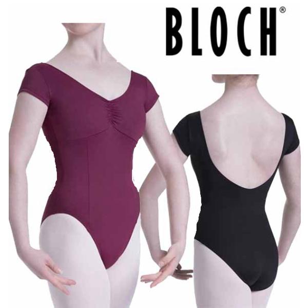 【 BLOCH/ブロック 】Vネック&フレンチスリーブレオタード プリンセスシームラインで細見え! シンプルレオタード