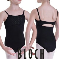 【BLOCH】胸元刺繍入り スカート無しキャミソール 子供 バレエ レオタード