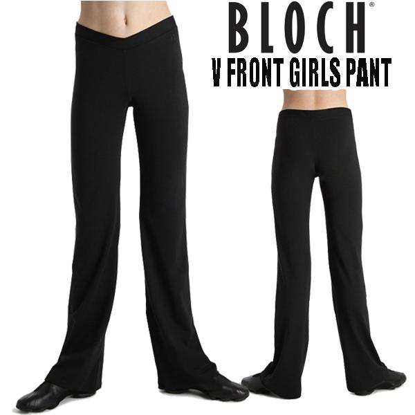 【BLOCH】ジャズパンツ 子供 キッズ ダンスや チアに  ウエストVデザイン