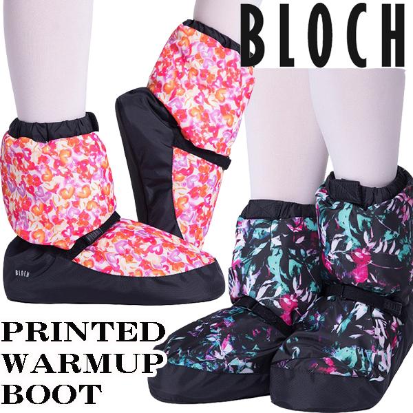 バレエ ブーティー BLOCH 柄物プリント: ウォームアップブーツ 男女兼用【BLOCH】ブロック