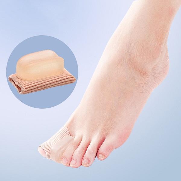 外反母趾用バニオンパッド しっかり足指にフィット!(1足分)トウセパレーター 【細めサイズ】