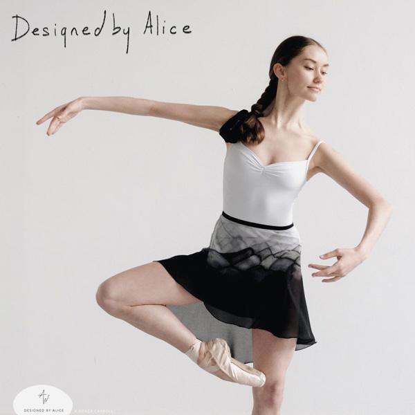 【 DESIGNED BY ALICE / デザインバイアリス 】巻きスカート  ロング丈 イギリス製 最高級 ハンドメイド 巾着付 絵画の様な美しいデザイン