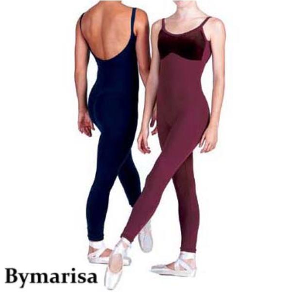 【Bymarisa】大人 胸元ベロア ユニタード バイマリサ 動きやすくてノーストレス
