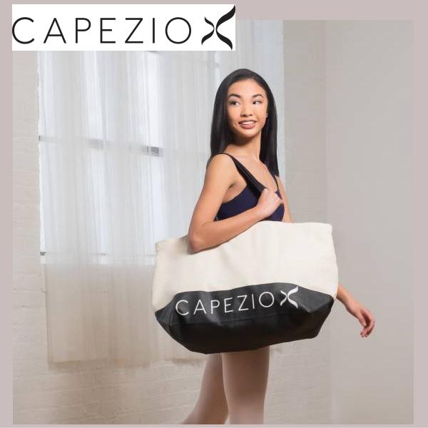 【カペジオ】キャンバス ビッグ トートバッグ:バレエやダンスのレッスンに!