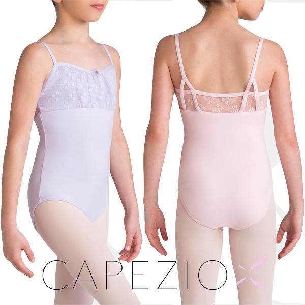 【カペジオ】【数量限定】お花の刺繍が可愛い デイジー スカートなしレオタード