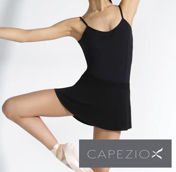 バレエ プルオンスカート カペジオ ブラック<br>ウエストゴムで履きやすい!