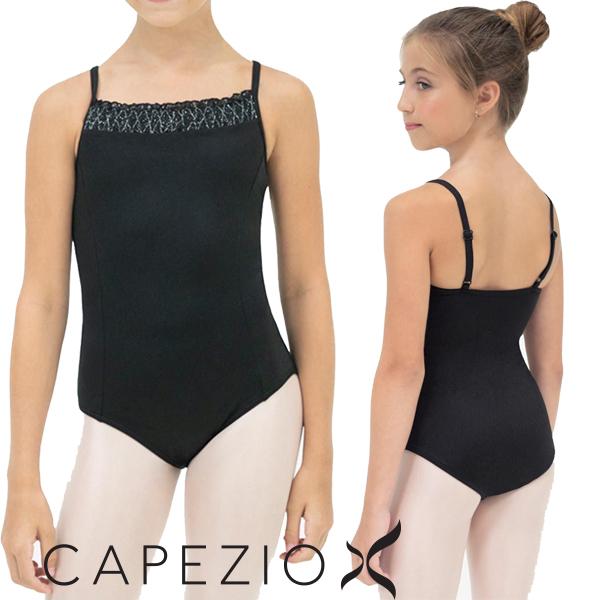 【カペジオ】子供 バレエ レオタード 肩紐調整可能なレオタード スカートなし(2色)
