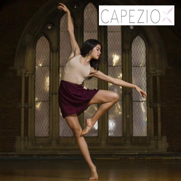 【CAPEZIO★カペジオ】ジョーゼット ラップスカート 長めの54センチ丈
