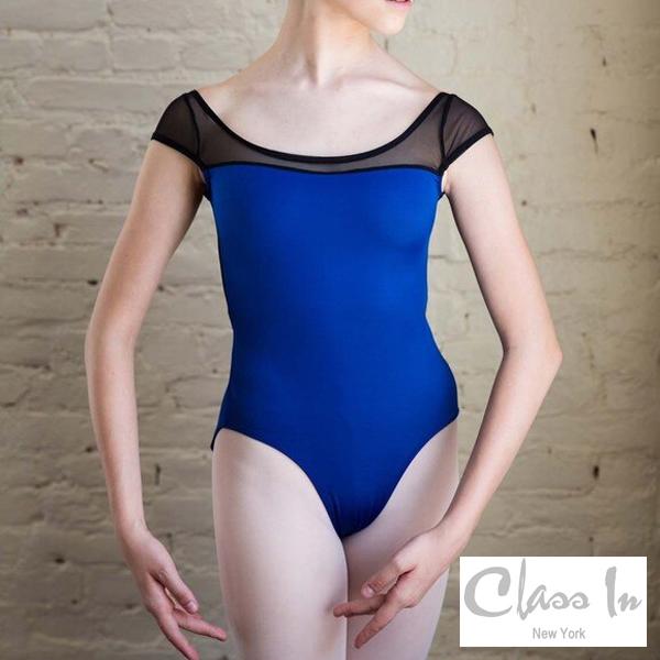 【 Cidance】ブルーとブラックのコンビ  レオタード 大人 ニューヨーク バレエ classin クラスイン