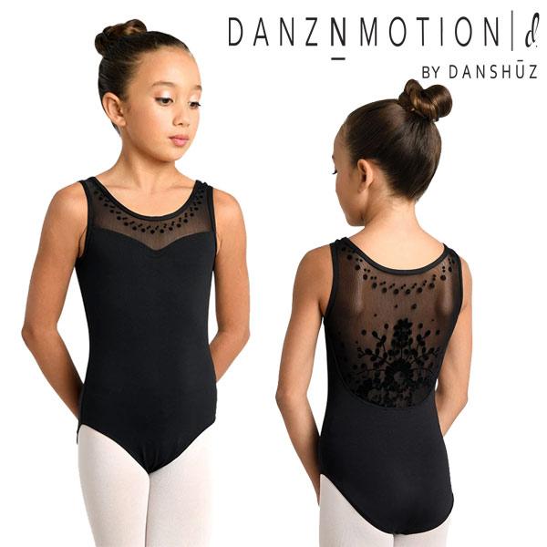 【DANZNMOTION】背中が可愛いレオタード 子供 スカートなし