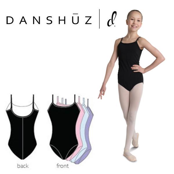 【DANZNMOTION】 スカートなし キャミソール バレエ レオタード 子供