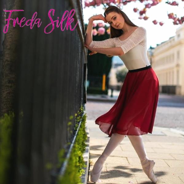 【 FredaSilk / フレダシルク 】リハーサルスカート ウエストゴム claret (ワイン) プルオンスカート