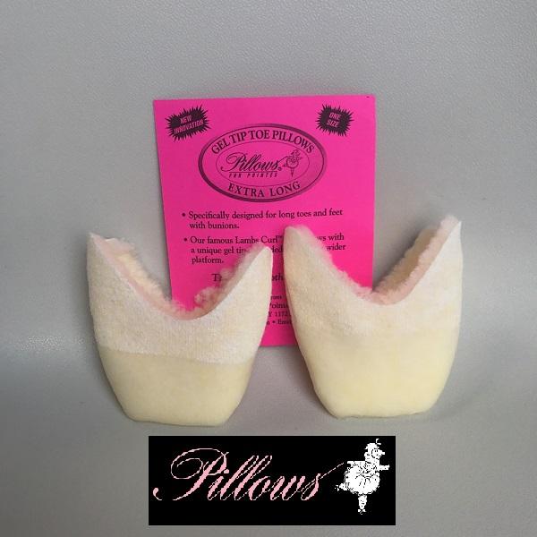 トウパッド【Pillows】 gel tip toe extra long ラムウールジェルチップ エキストラロング トウパッド(バレエ トウパッド トウシューズ パッド) ballet toepads