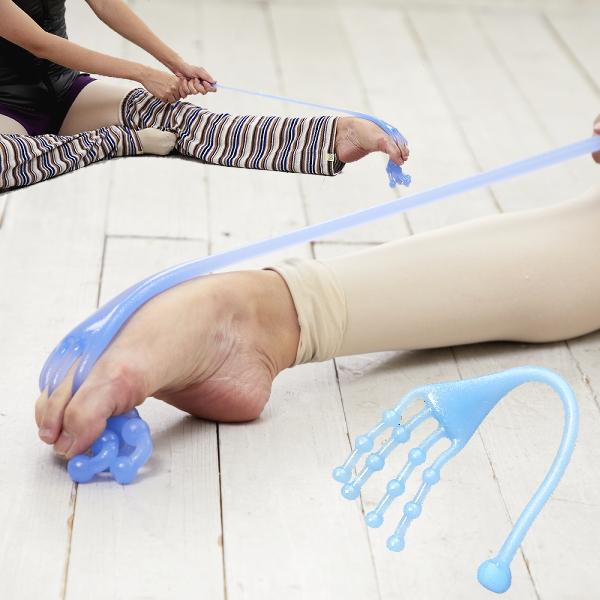 バレエ上達グッズ:イカ足ストレッチバンド(足裏を鍛えて美しいつま先を)【ブルー】