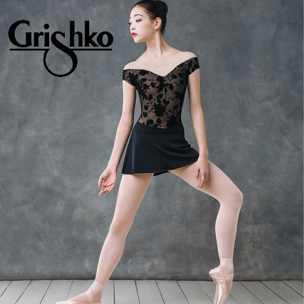 グリシコ/フレンチスリーブ お花の刺繍が高級感(ボリショイスターズジュエルコレクション)【grishko】