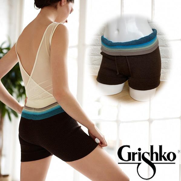 【 Grishko 】 ニット ショートパンツ グリシコ ニットショートパンツ 暖かい ウール入り