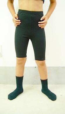 男の子用 バレエ 5分丈スパッツ 100cm~170cm 【男の子バレエセット対象】 -ブラック 【バレエ用品】