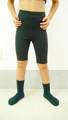 連携ずれた 男の子用 バレエ 5分丈スパッツ 100cm~170cm 【男の子バレエセット対象】 -ブラック 【バレエ用品】