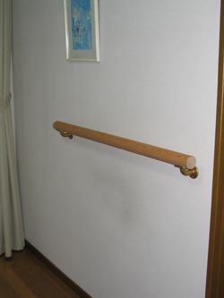 バレエの柔軟体操や自主練に!自宅用簡易レッスンバーキット 1メートルセット(壁付け用)木造家屋用