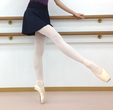【大人】フルトウバレエタイツ(No.2)★ピンク/ブラック 伸縮抜群の最高品質PROバレエ タイツ