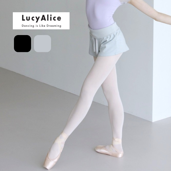 【 LucyAlice / ルーシーアリス 】イージーショートパンツ ウエストリボンデザイン ウエスト折り返し可能