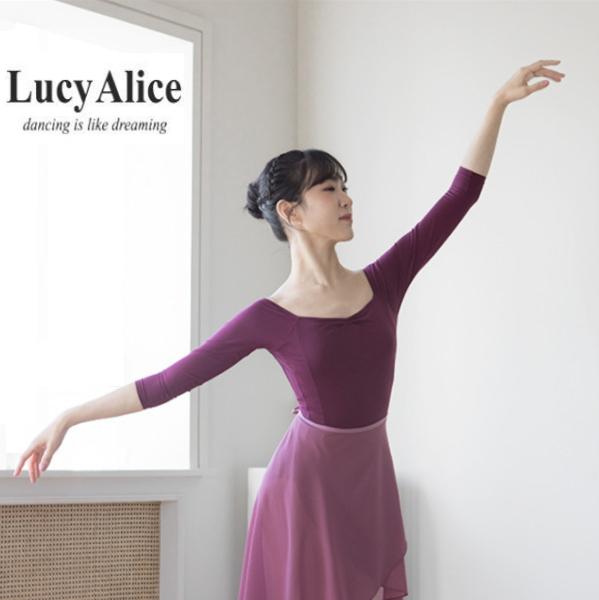 【 LucyAlice / ルーシーアリス 】 長袖レオタード ロングスリーブ ブラカップ差し込み可能!