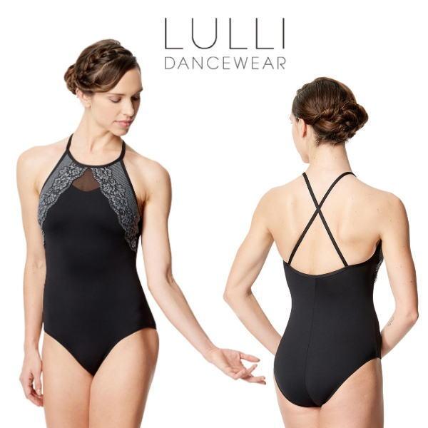 【LULLI】大人 バレエ レオタード アメリカンスリーブ風デザイン 最高品質マイクロファイバー使用