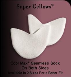 【Pillows】Super gellows:シームレスのジェル布トウパッドSUPG