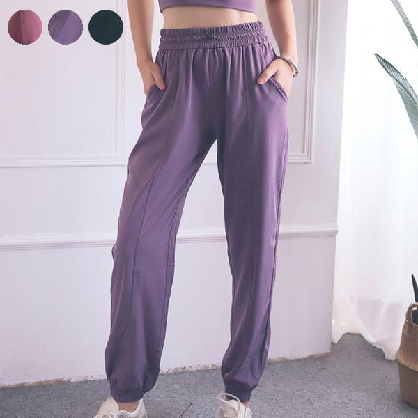 ジョガーパンツ ウエストゴム パンツ 着心地軽やか 速乾性 エクササイズパンツ