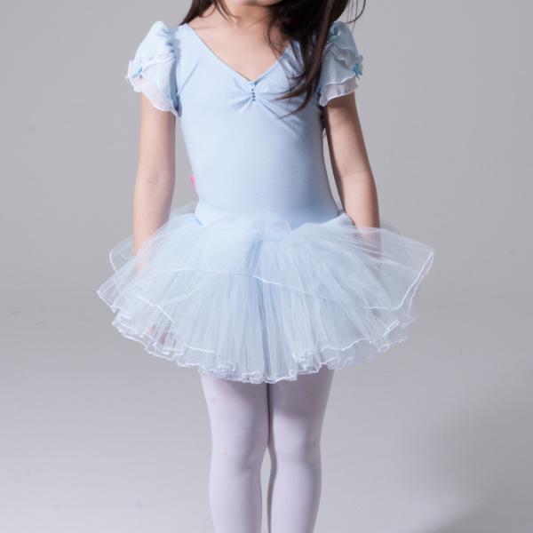 子供 レオタード スカートつき シンデレラみたい♪ 衣装にも! 100~130cm ブルー
