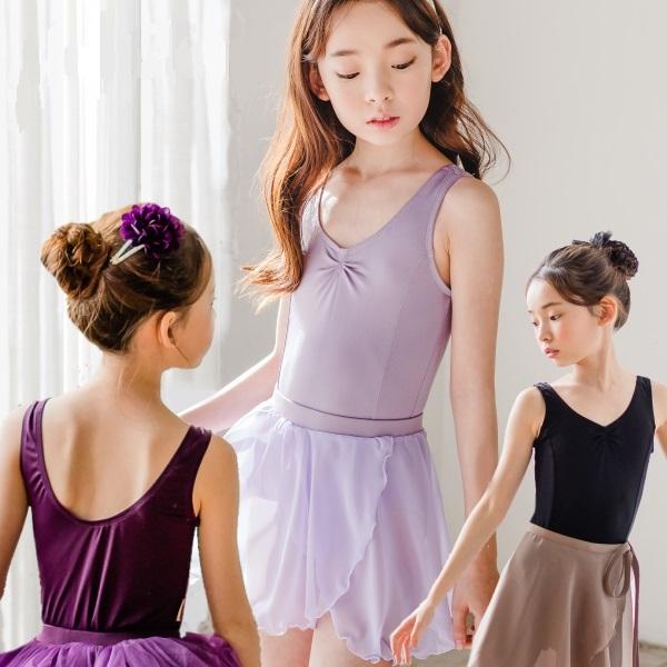 子供 バレエ レオタード スカートなし タンク型 3色展開