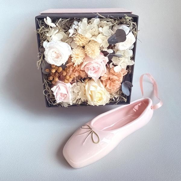 陶器で出来たトウシューズ 小物入れ トゥシューズ ピンク 日本製