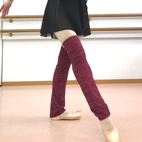 【Rubia Wear★ ルビア ウェア】バレエダンサーがデザインしたレッグウォーマー(Soft Cardinal)ショート丈【Sサイズ】 ルビアウェア ルビア