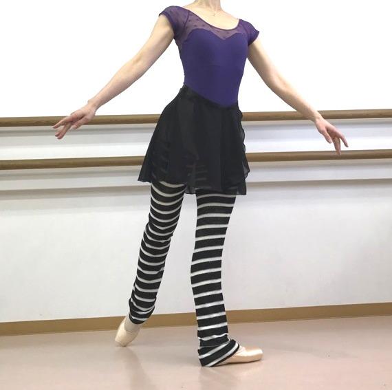 【Rubia Wear】バレエダンサーがデザインしたレッグウォーマー(Anais) ロング丈