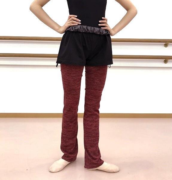 【Rubia Wear】バレエダンサーがデザインした超ロングレッグウォーマーSoft Cardinal フルレッグ
